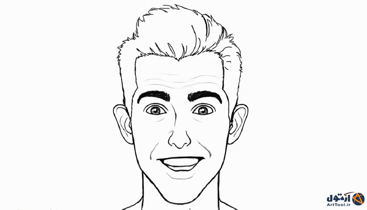 آموزش طراحی چهره خندان   آموزش نقاشی چهره شاد   طراحی حالات چهره خندان   نقاشی حالات چهره خوشحال   آرت تول   Arttool   طراحی حالات چهره