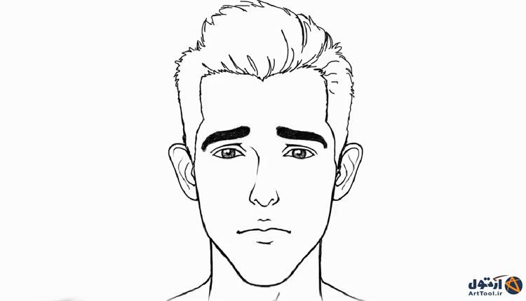 آموزش طراحی حالت غمگین چهره   آموزش نقاشی چهره غمگین   طراحی حالات چهره ناراحت  نقاشی حالات چهره   آرت تول   Arttool   طراحی حالات چهره   نقاشی چهره اندهگین
