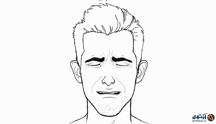 آموزش طراحی حالت گریه چهره   آموزش نقاشی چهره گریان  طراحی حالات گریه چهره   نقاشی حالات چهره   آرت تول   Arttool   طراحی حالات چهره   نقاشی چهره گریان
