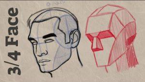 آموزش طراحی چهره سه رخ | آموزش طراحی چهره 3رخ | طراحی دیجیتال چهره سه رخ | آموزش طراحی دیجیتال | آموزش نقاشی دیجیتال