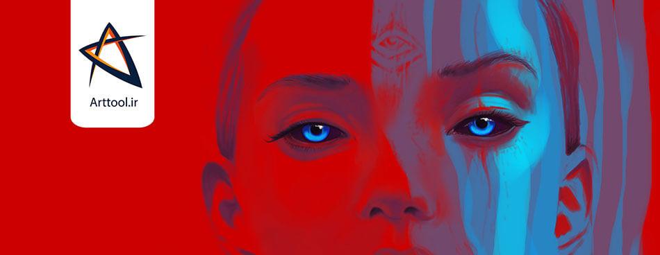 طراحی چهره دیجیتال | طراحی دیجیتال | طراحی چهره | دیجیتال پینتینگ | نقاشی دیجیتال | آموزش طراحی دیجیتال | آموزش نقاشی دیجیتال