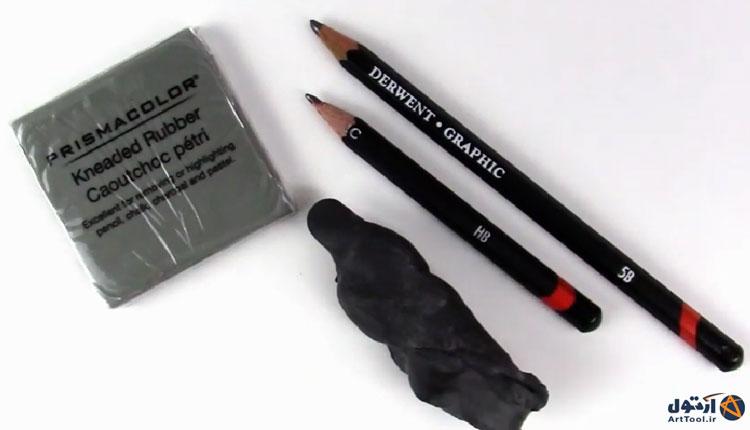 آموزش طراحی با مداد   آموزش طراحی لب با مداد   پاک کن طراحی   پاک کن نقاشی   پاک کن خمیری   آرت تول   Arttool