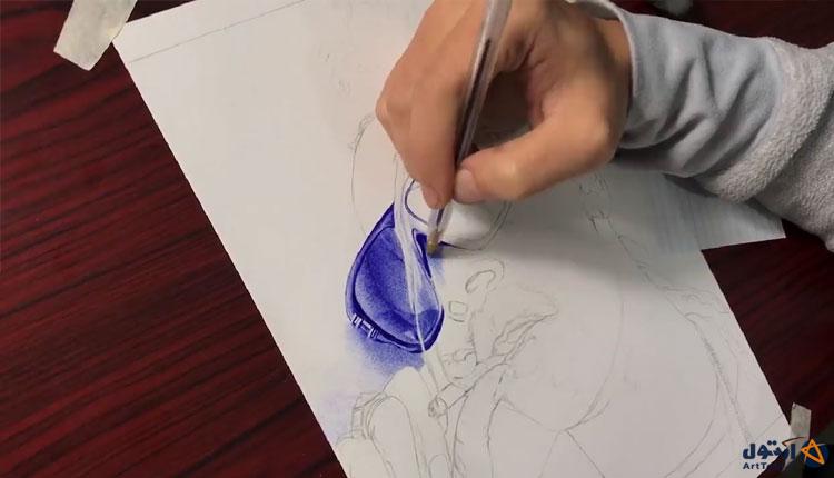 آموزش طراحی چهره سه رخ با خودکار   آرت تول   طراحی چهره سه رخ   طراحی با خودکار   آموزش طراحی با خودکار   نقاشی با خودکار   آموزش نقاشی با خودکار
