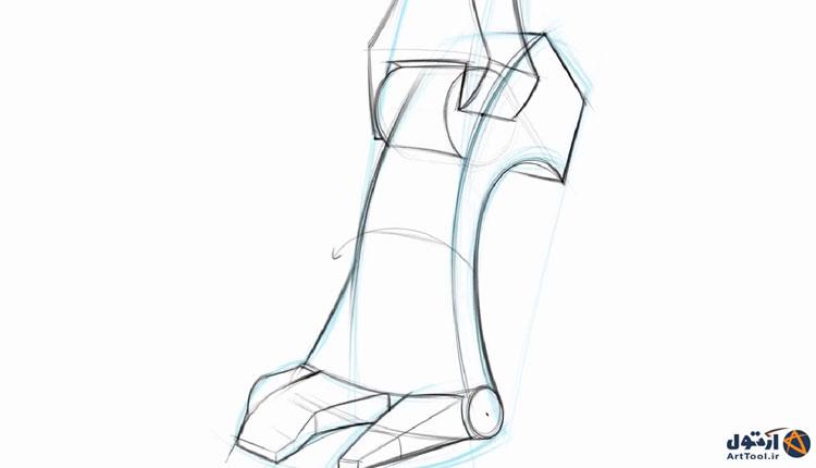 یک روش ساده برای طراحی آناتومی پا   آرت تول   به سادگی هنرمند شو   آموزش طراحی   آموزش طراحی دیجیتال   آموزش نقاشی دیجیتال