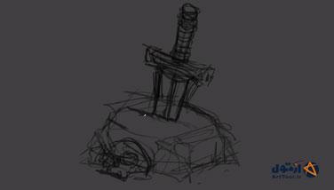 سلاح بازی  تصویر سازی بازی   شمشیر گرافیک بازی   طراحی شمشیر   آموزش طراحی شمشیر بازی   گرافیک بازی سلاح   طراحی سلاح بازی   آرت تول