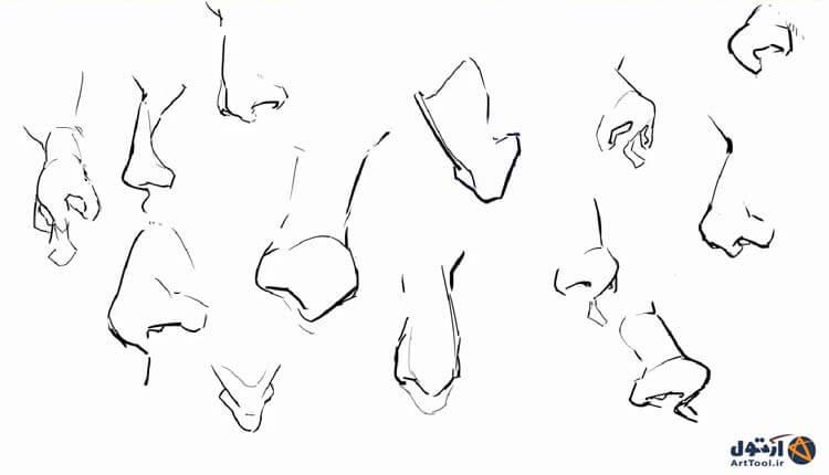 آموزش طراحی آناتومی دست   کشیدن دست نقاشی دیجیتال   آموزش digital painting