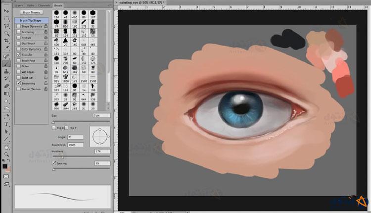 آموزش طراحی | آموزش طراحی چشم رئال | آموزش نقاشی چشم | چشم هایپررئال | آموزش مرحله به مرحله طراحی چشم | نقاشی دیجیتال چشم | طراحی چشم دیجیتال