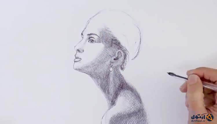 آموزش طراحی چهره با خودکار | آموزش طراحی خودکار