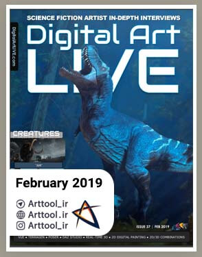 Digital Art Live February 2019 دانلود مجله طراحی | دانلود رایگان مجله طراحی دیجیتال سیاه قلم طراحی