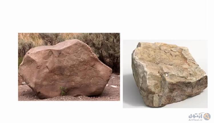 آموزش طراحی سنگ - نقاشی دیجیتال | آموزش digital painting| دییجیتال پینتینگ