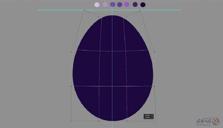 آموزش طراحی سنگ نیمه شفاف - نقاشی دیجیتال - آموزش نقاشی دیجیتال - آموزش digital painting