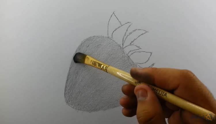 طراحی توت فرنگی با قلمو - چگونه توت فرنگی طراحی کنیم ؟